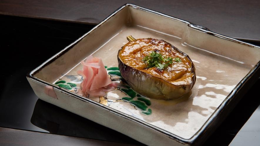 **【夕食】折戸茄子味噌焼き/主に折戸茄子会席(6~10月)でお召し上がりいただけます