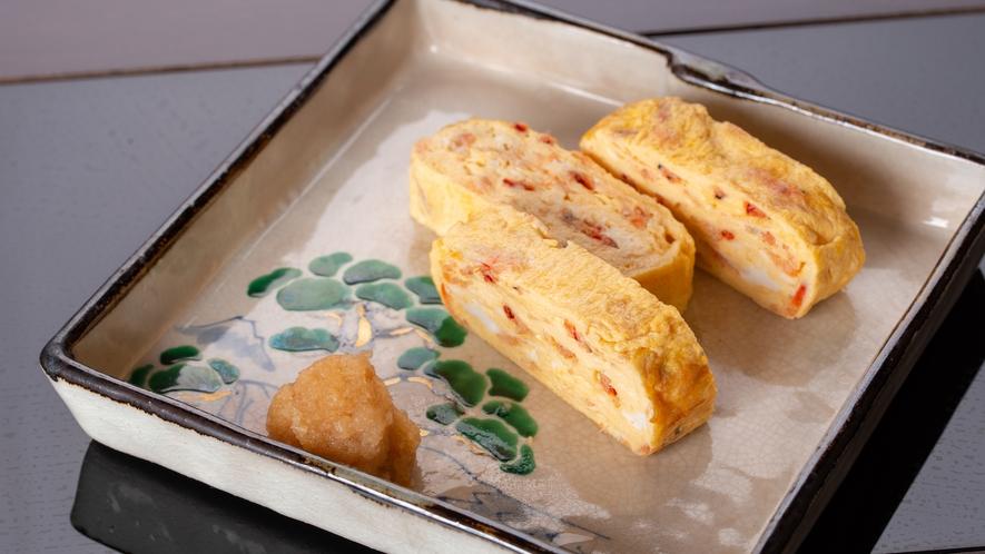 **【プラン限定:桜海老の玉子焼き】香ばしさと甘味を感じられる、料理長自慢の一品