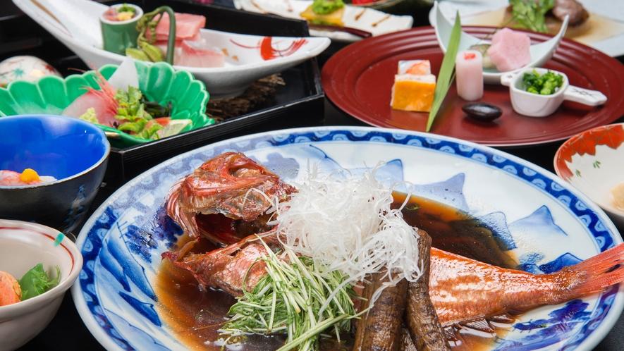 **【夕食】金目鯛の煮付け/金目鯛の煮付けプランまたは別注でお召し上がりいただけます