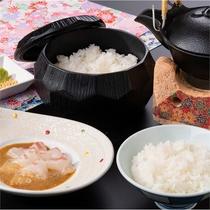 三重県産の真鯛を使った鯛茶漬け