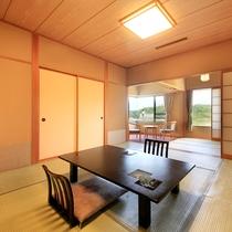 清涼館…和室13畳、広縁、バルコニー(一部客室のみ)、バス・トイレ付。禁煙室もあります
