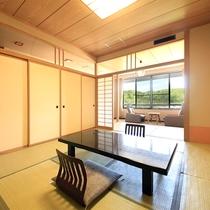 長生館…岩沼屋のスタンダード和室です。車椅子でお部屋に入れる造りです。