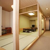 長生館…カーペット敷きが広縁までつながっています。窓は東または西向きです。