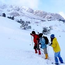 雪景色の中を歩く楽しさ