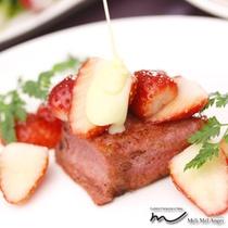 那須のフランス料理 メリメランジュ:スペシャリテ イチゴのフレンチトースト