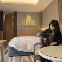 ワンちゃんと一緒に泊まれる宿◆テラス棟(ペットホテル棟)