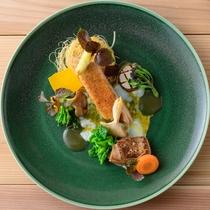那須のフランス料理『メリメランジュ』★美鶏『栃木しゃも』 胸、腿、出汁で素材全てを食す