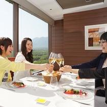 那須のフランス料理 メリメランジュ:ホテル最上階の絶景レストランでフレンチランチ♪女子会にも!