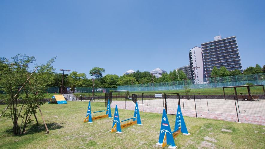 【ドッグラン】那須エリア最大級★テニスコート2面分の広さ♪