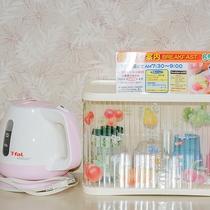 【客室設備一例】お茶セット&電気ケトル(湯沸かし器)