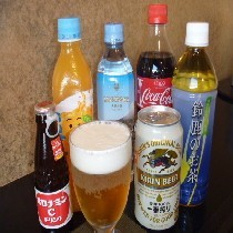 きゅっと一杯、ほっと一息♪お好みのドリンクはビール、鈴鹿茶をはじめ数種類の中からお選びください。