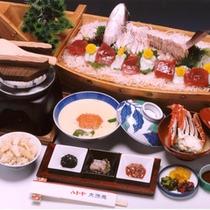 日帰りメニュー「舟盛鍋定食」