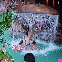 古代ビーチ・きのこ噴水
