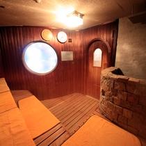 海底温泉「お魚風呂」サウナ2