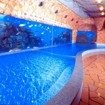 海底温泉「お魚風呂」1