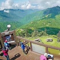 横手山ビューテラスからの絶景をお楽しみください。