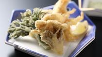 夕食 山菜の天麩羅