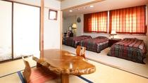 特別室はベッドルームに和室付きです。