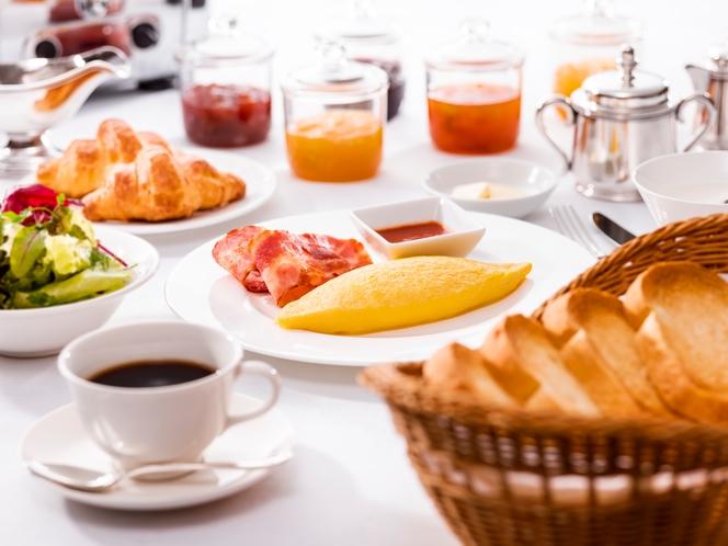 朝食(アメリカンブレックファスト) ※イメージ