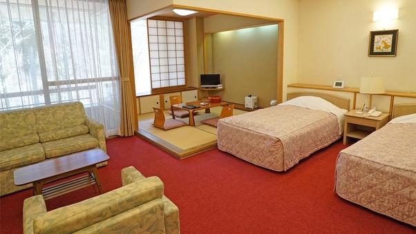 【新室】和洋室(ベッド2台+布団2枚・定員4名)