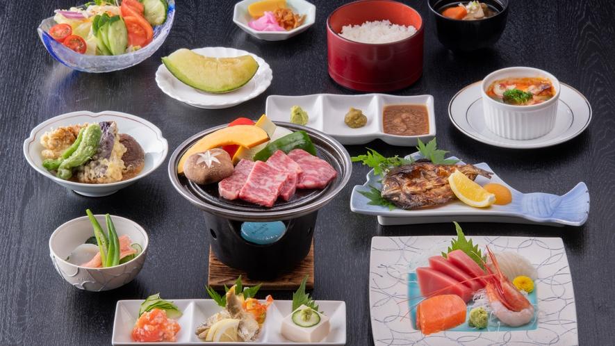 夕食の和食会席「料理長特選コース」(イメージ。季節や仕入れ状況によって内容は一部変わります)