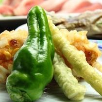 夕食_季節の天ぷら