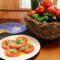夕食_トマトのカルパッチョ(夏)