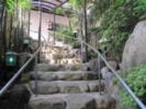 大浴場棟への連絡階段