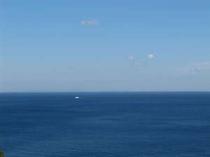 客室からの眺め 見渡す限り一面海 パノラマ1 三浦半島方面