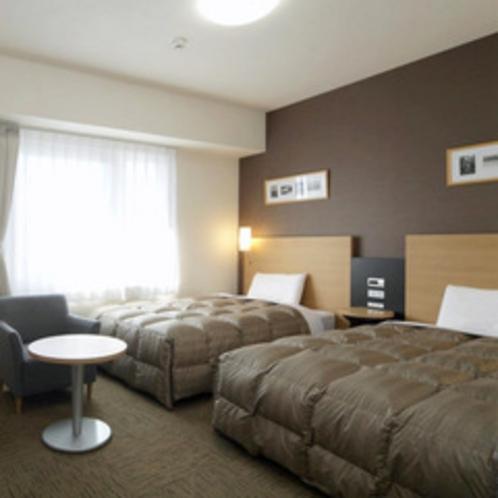◆ツインエコノミー◆広さ19平米◆ベッド幅123cm×2台◆小学生以下のお子様の添い寝も無料です♪