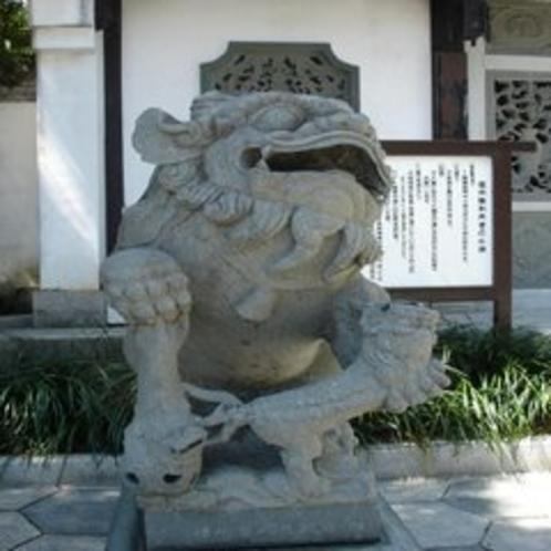 ◆福州園エントランスの石造