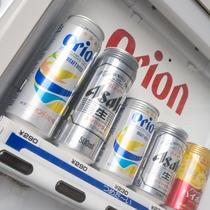 2階にアルコール専用の自動販売機を完備!! オリオンビール等ございます♪