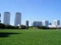 新都心公園へは・・・徒歩約10分 ※ウォーキングコースのほか、遊具や健康器具も揃っています。