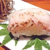 【のどぐろ会席】白身魚ながらも脂がのっているため、炙り寿司にも最適!口の中でとろける美味しさです♪