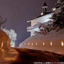 【レルヒ祭(前夜祭)】レルヒキャンドルロード。幻想的な雰囲気です♪