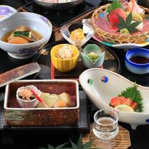*【夕食一例】お部屋食が嬉しい。ゆっくりと気兼ねなくお召し上がりください。