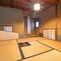 *【霧晴庵】四季の移ろいを愉しみながら、厳かな雰囲気で日本伝承のお茶を嗜める茶室がございます。