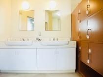 洗面台・ロッカー(男性浴室)