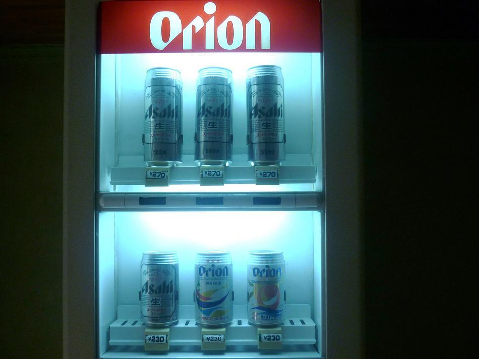 3階ランドリー室にはビール自販機