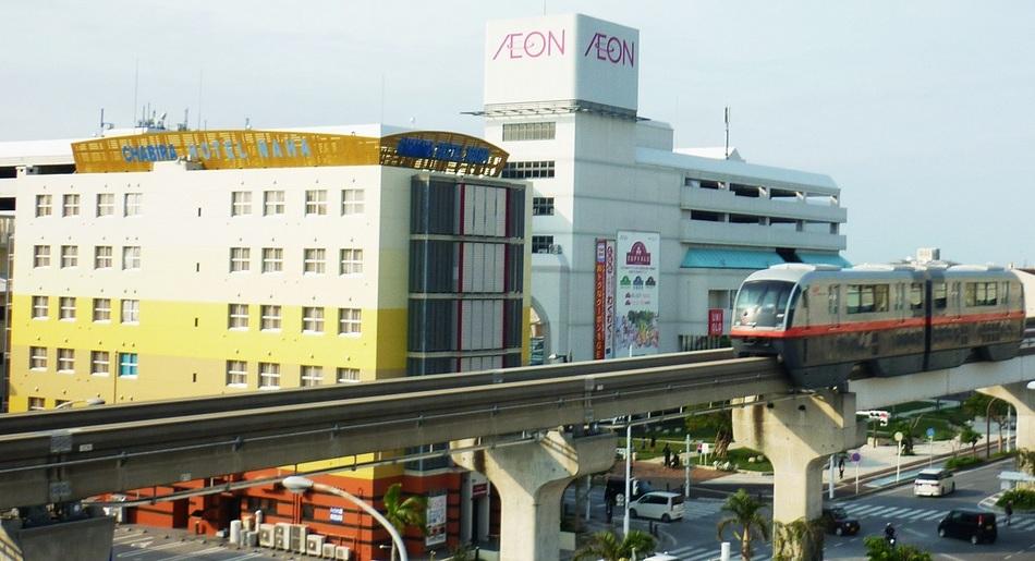 ホテルは、モノレール路線沿い