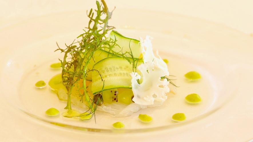 【ご夕食】鮮魚のカルパッチョ