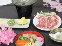 花見&新緑プラン夕食一例