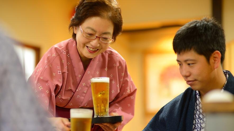 お風呂上がりのビールの美味しさは格別!☆