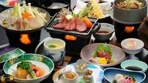【あんこう鍋と霜降り牛ステーキ】ほっくほくのアンコウ鍋&霜降り牛ステーキ!お魚とお肉の豪華な共演