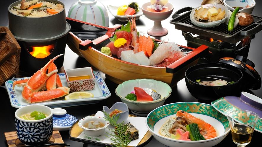 【贅沢和会席】お一人様ずつ舟盛りをサービス! 仙台漁港もすぐ近くなので、新鮮な海の幸をご提供します