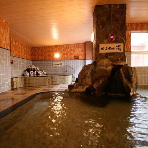 大浴場にはあつ湯とぬる湯があり、お子様の温泉デビューに◎
