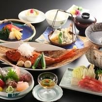 「金目鯛満喫」お料理イメージ。3種類の金目鯛料理を堪能