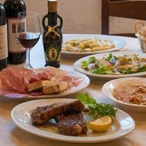 徒歩2分の「IF GOLFO」さんではイタリアの本格家庭料理が楽しめる