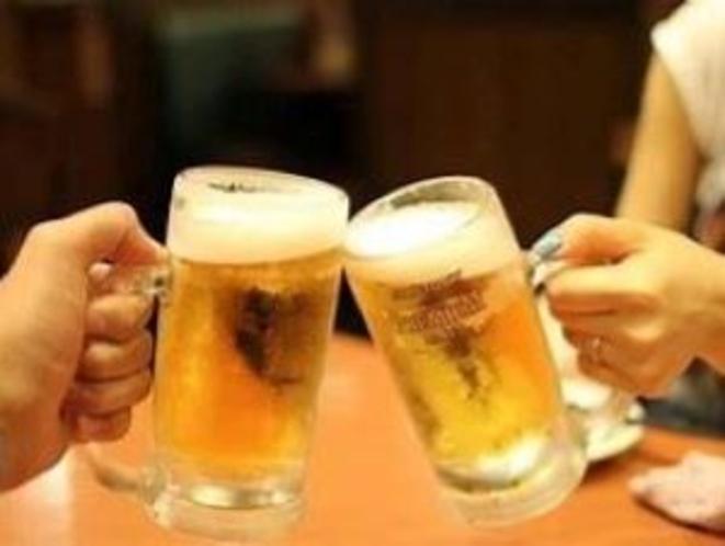 生ビール冷えてます♪