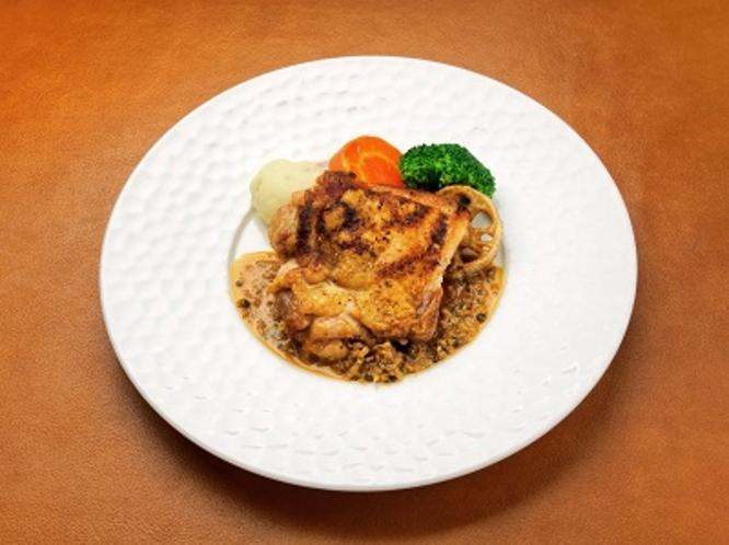 山梨県のブランド鶏:信玄鶏のグリル